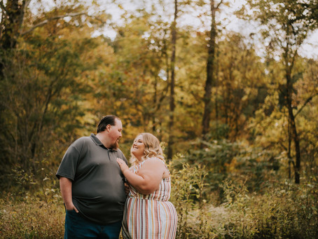 Fall Engagement Portraits with Megan + Gage | Elizabeth, IN | Kentucky Wedding Photographer