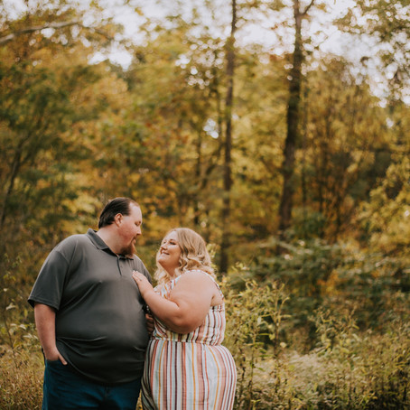 Fall Engagement Portraits with Megan + Gage   Elizabeth, IN   Kentucky Wedding Photographer