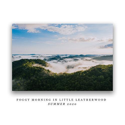 Foggy Morning in Little Leatherwood Print