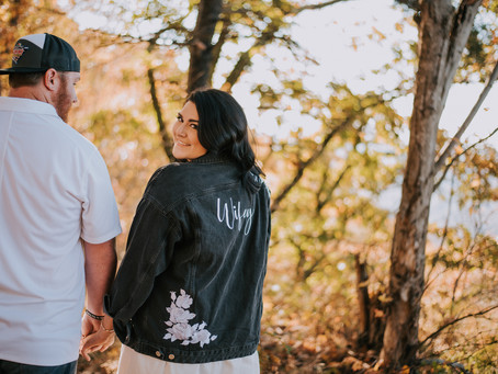 Fall Engagement Portraits on Pine Mountain | Brandi + Derrick | Kentucky Wedding Photographer