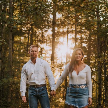 Fall Engagement Portraits with Alexandra + Dustin   Viper, KY   Kentucky Engagement Photographer