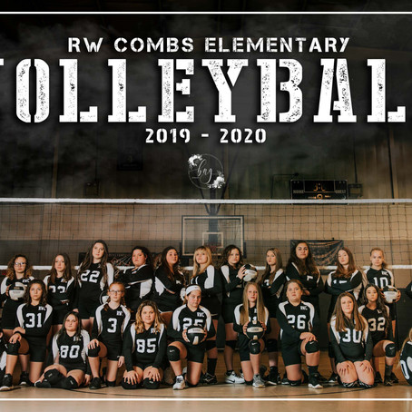 Sports Portraits with RW Combs Elementary Volleyball | Happy, KY | Kentucky Sports Photographer