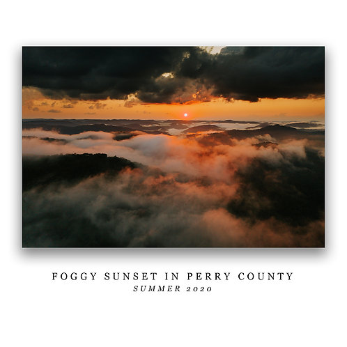 Foggy Sunset in Perry County Print