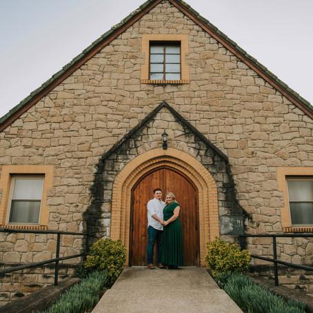 Golden Hour in the Heart of Whitesburg, KY   Morgan + Kameron   Kentucky Engagement Photographer