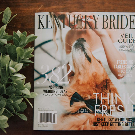 Our Printed Feature in Kentucky Bride Magazine | Kentucky Wedding Photographer