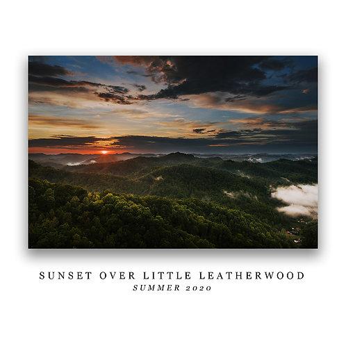 Sunset Over Little Leatherwood Print