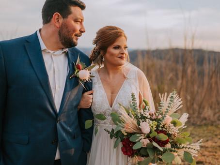 A Spring Golden Hour Elopement | Letcher County, KY | Kentucky Wedding Photographer