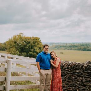 Summer Engagement Portraits at Shaker Village | Brionna + Hunter | Kentucky Wedding Photographer