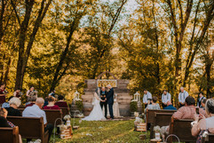 Gorgeous fall ceremony