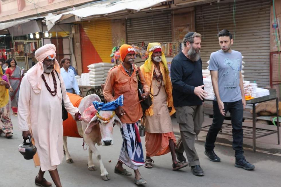 En la feria en la India.