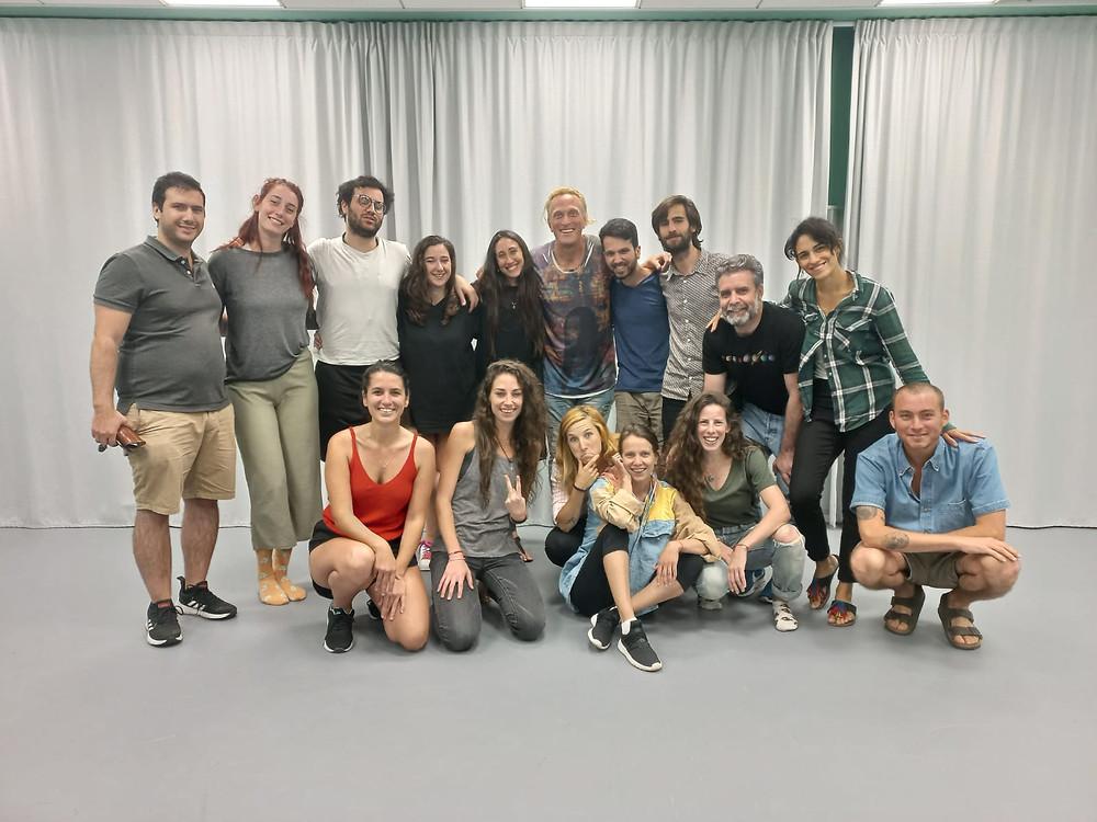 Foto de su primera clase de Teatro en Israel, Jueves 3 de Junio 2021. Foto: cedida por el entrevistado.