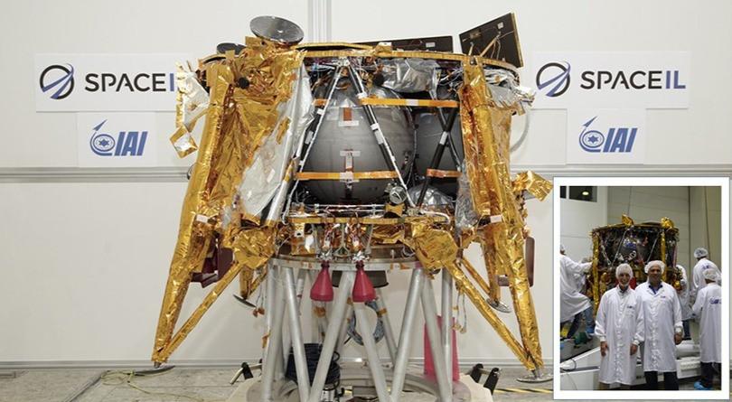 The SpaceIL Beresheet Lunar Lander. Foto cedida por el entrevistado.