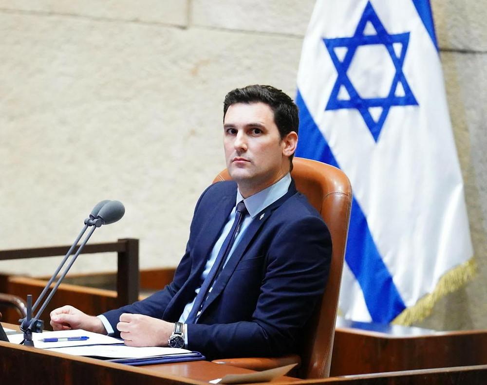 Eitan Ginzburg en una sesión en la Knesset. Foto cedida por el entrevistado.
