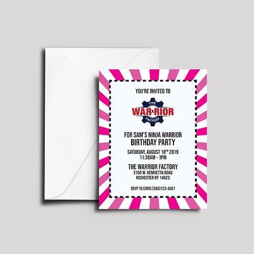 Pink Burst Invites