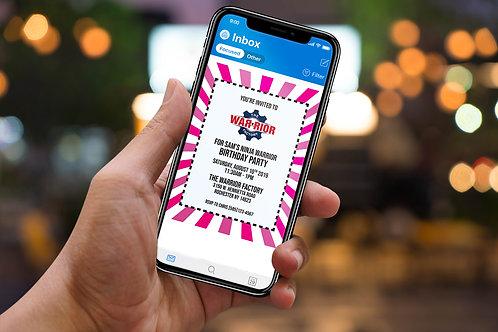 Digital Pink Burst Invite