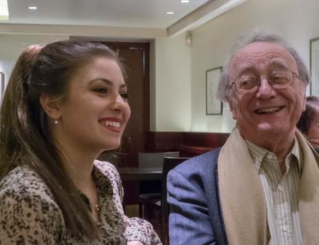 Lara sharing a joke with Alfred Brendel KBE