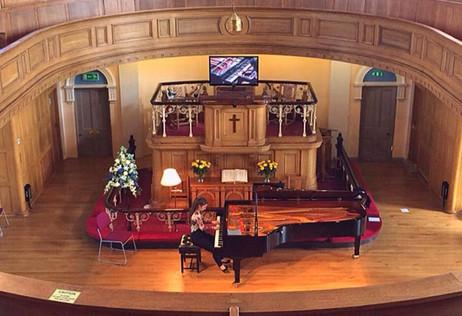 Lara Perfoms a Schubert and Chopin Recital at Wesley Chapel in Harrogate