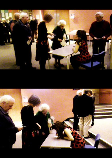 Lara signs autographs post-concert at Wiltshire Music Centre