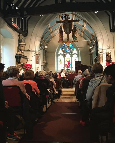 Lara performing at St Mary's, Perivale