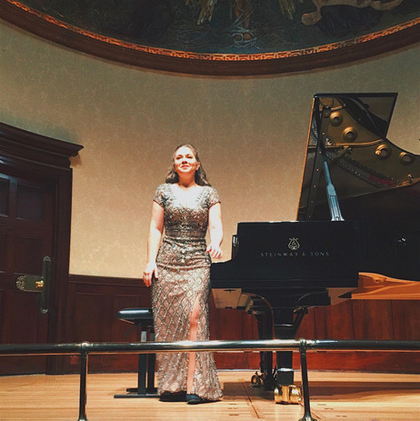 Lara taking a bow at her Second Sold Out Wigmore Hall Recital