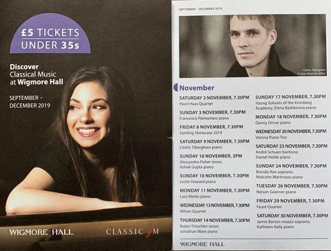 Wigmore Hall, 11th November 2019
