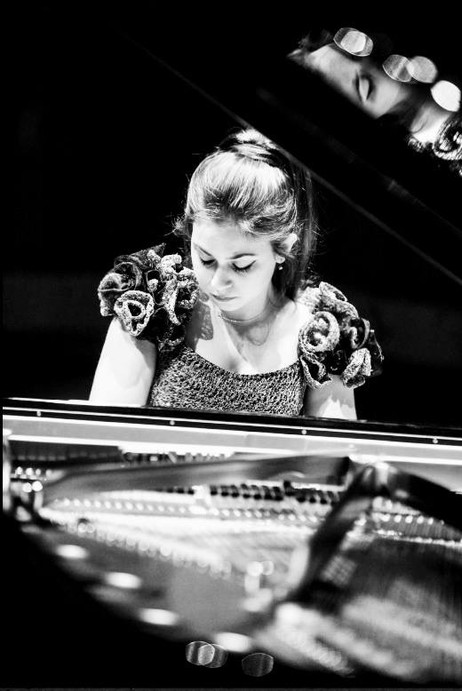 During Lara's performance at the 14/15 season launch at Saffron Hall