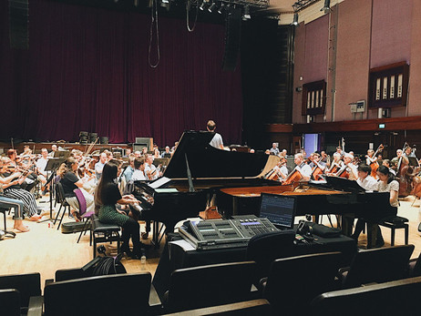 Rehearsals with the BBC Concert Orchestra