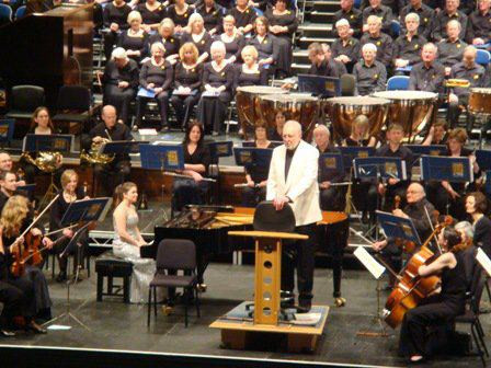 Lara performs Saint-Saens Piano Concerto No.2 with the Watford Phil conducted by Terry Edwards at th