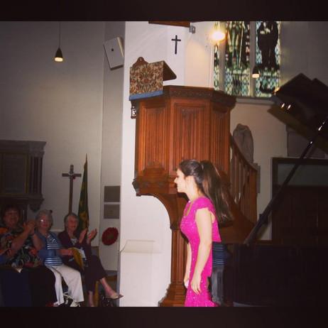 Lara performs in Epsom