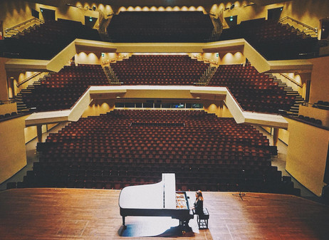 Lara rehearsing at the Theatre Royal & Royal Concert Hall, Nottingham