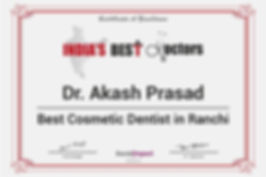 Smiles Central India's Best Doctors Award