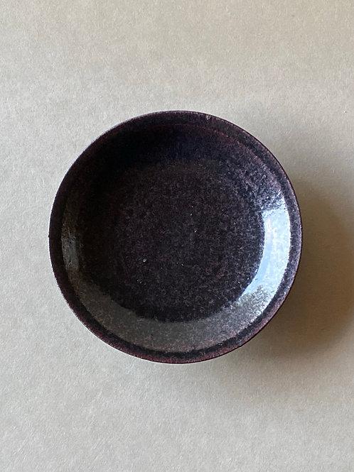 黒唐津六寸皿