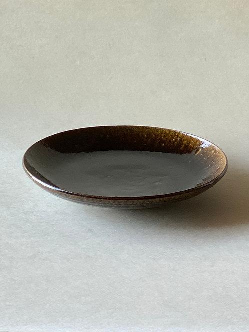 飴釉七寸皿