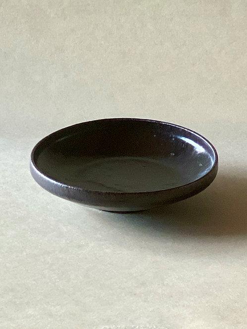 黒唐津銘々皿