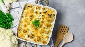Celeriac Leek & Cauliflower Gratin