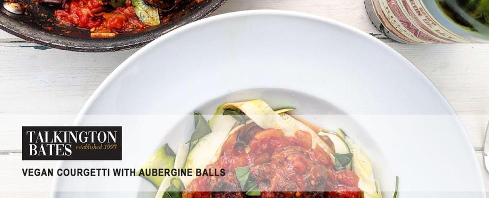 Vegan Courgetti with Aubergine Balls