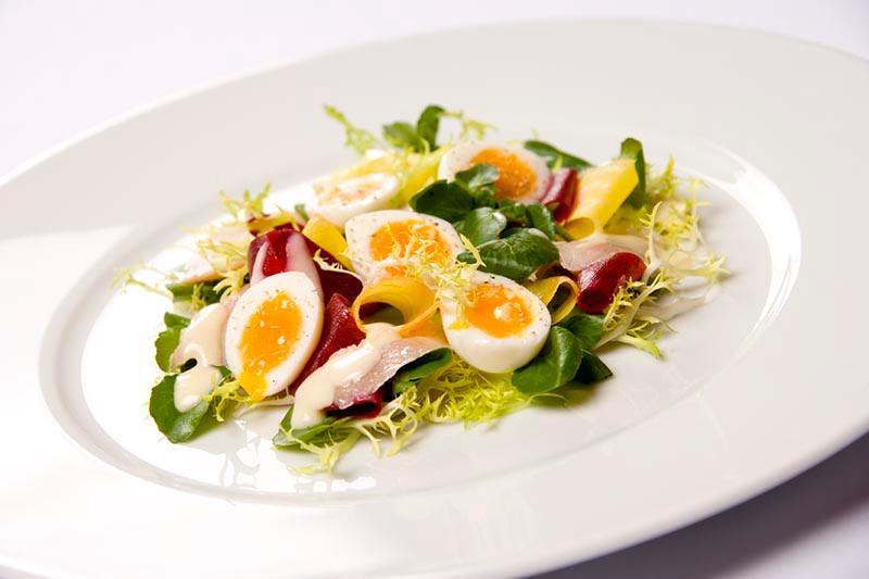 Eel, Beetroot & Egg Salad