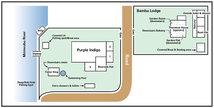 A map layout of Purple Indigo