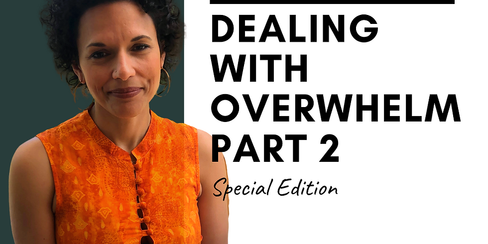 Dealing With Overwhelm - Part 2
