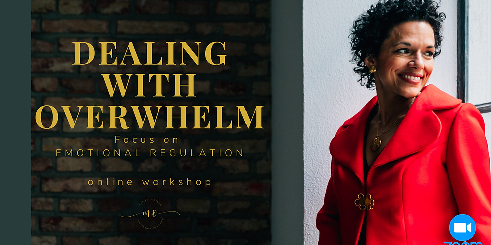 Dealing With Overwhelm: Focus on EMOTIONAL REGULATION