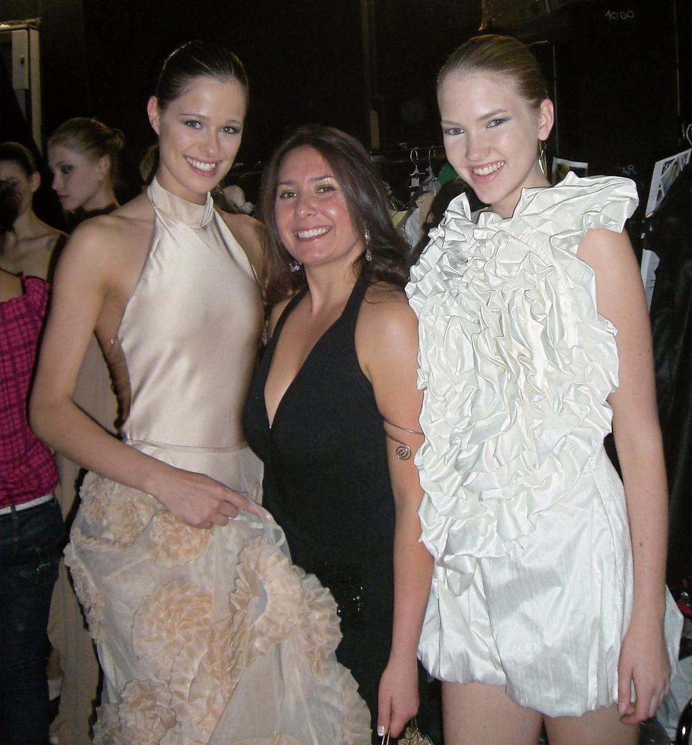 la mia sfilata di fine corso al Polimoda, nella foto con la Miss Italia, Silvia Battisti