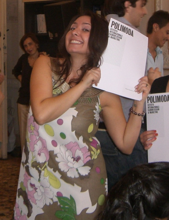 Al polimoda, durante la cerimonia di consegna dei diplomi