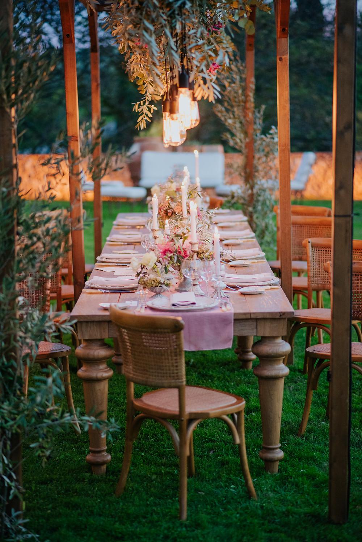 allestimento matrimonio in Toscana