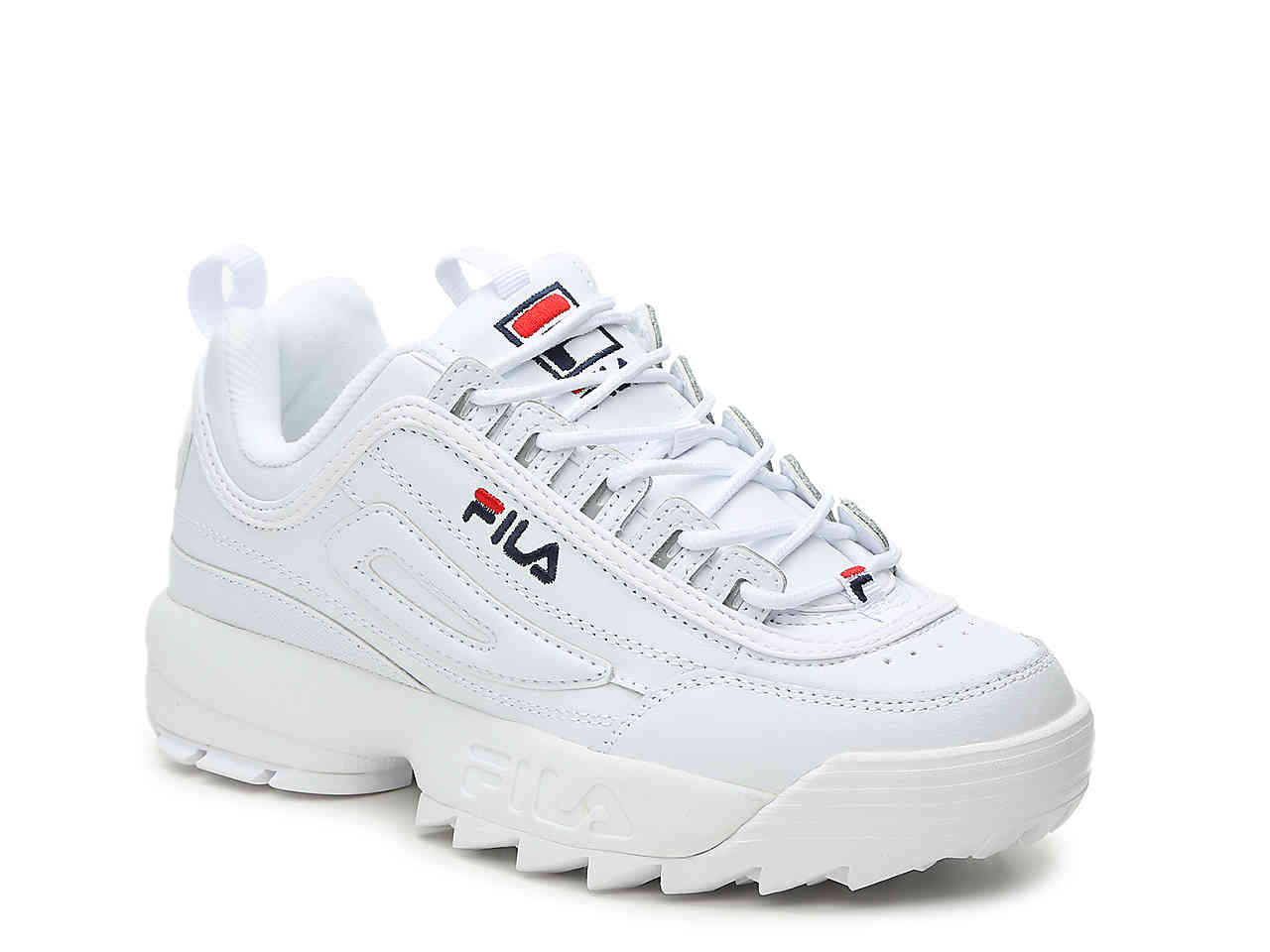 fila disruptor II navy blue and red