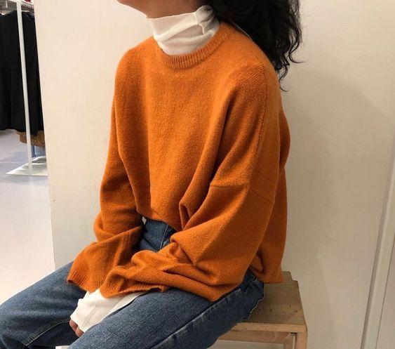 layered mock neck