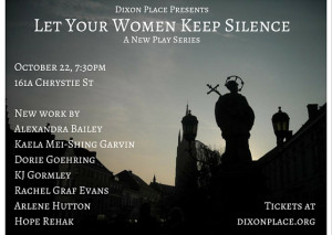 Let Your Women Keep Silence: A New Bible Play Series
