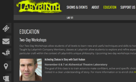 """""""ACTIVATING CHOICES"""" AT THE LABYRINTH THEATRE COMPANY"""