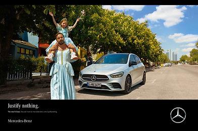 Mercedes b-class campaign maquillaje y pelo Nao Gayoso