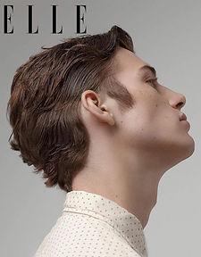 elle man editorial de hombre maquillaje y pelo Nao Gayoso