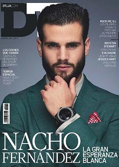 revistra DT nacho fernandez real madrid maquillaje y pelo Nao Gayoso